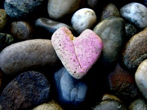 My Healing Mentors Heart Rock